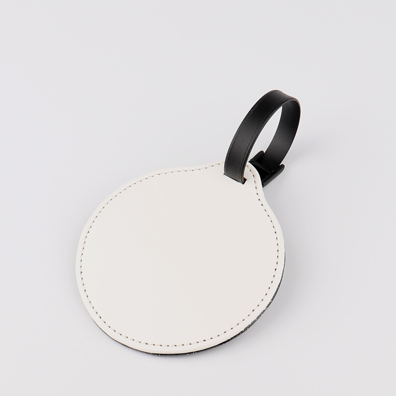 Round Leather Baggage Tag Sublimation Blank PL19001