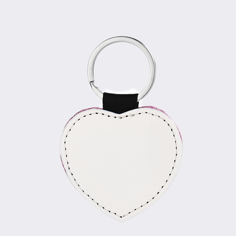 Sublimation Single-sided leather keychains Wholesale QT19027