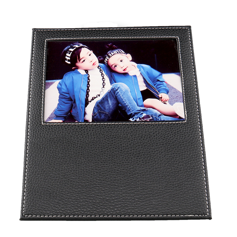 Sublimation Blank Black Leather Photo Frame XK19002
