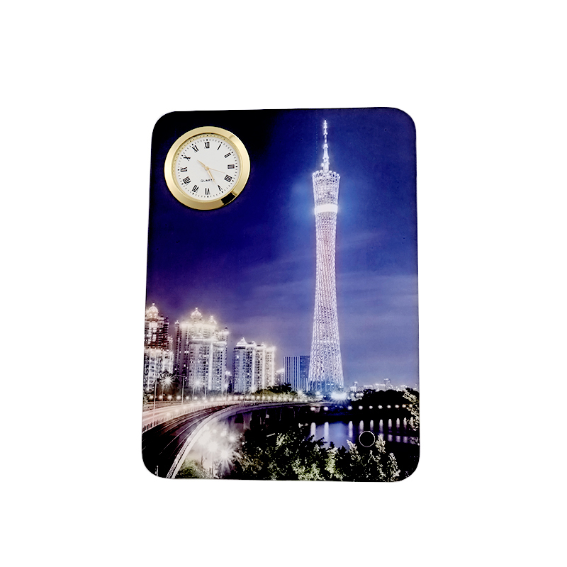 Table Picture Frame with Clock Sublimation Printing PL19010