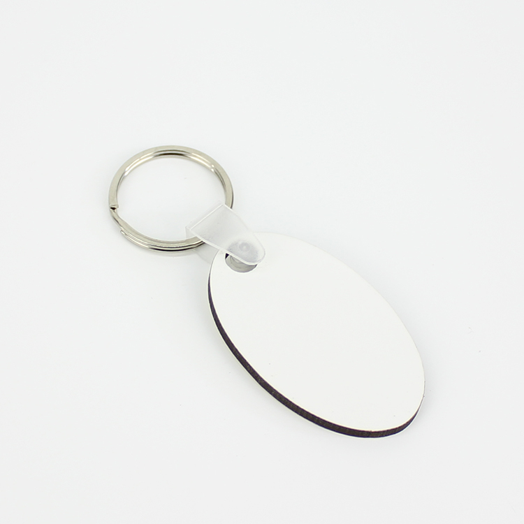 Heat Transfer Printing Oval Keyring Wholesale MDF19068