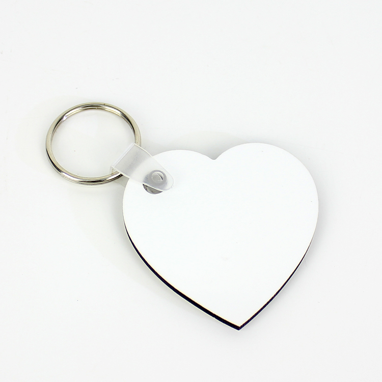 Heart Shape Transfer Print MDF Wood Keyrings MDF19069