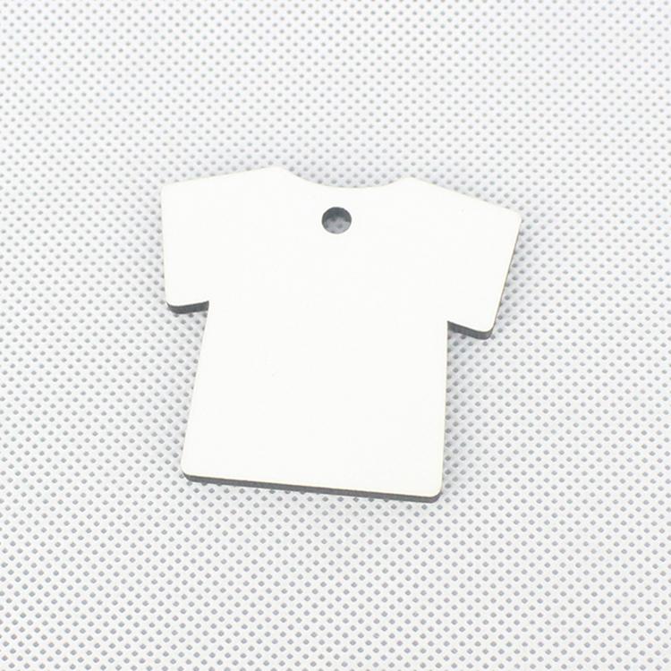 T-shirt Shape Sublimation Sport Keychains Custom MDF19074