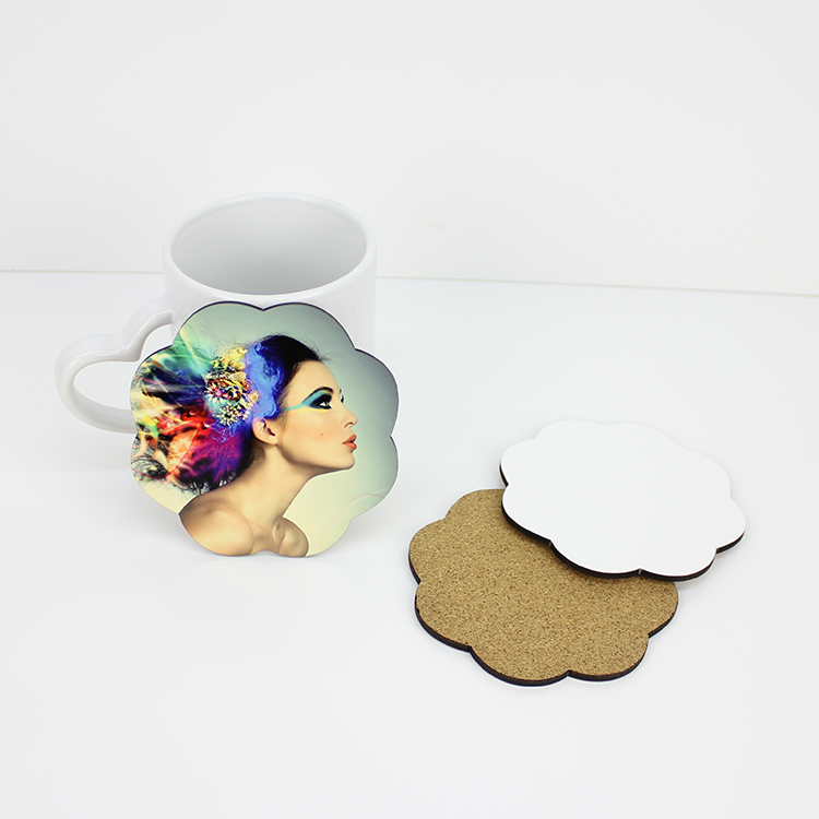 Flower Shape Sublimation Blank Coaster Wholesale MDF19009
