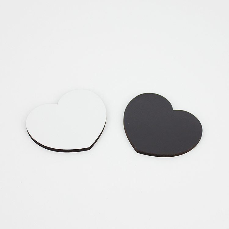 60*51mm Sweet Heart Fridge Magnet Sublimation MDF19016