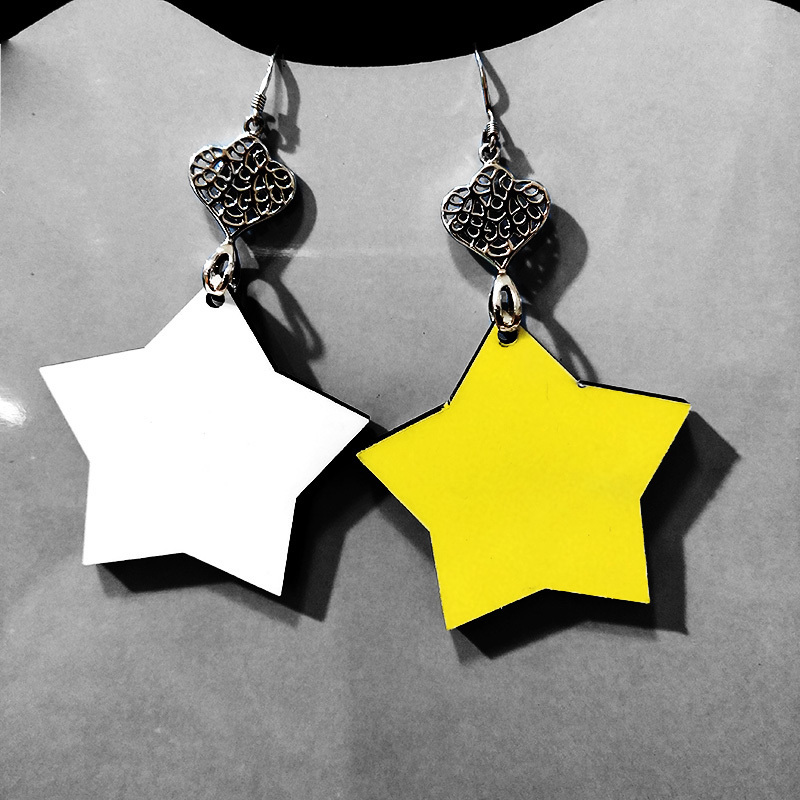Star Pendant Sublimation Earring for Ladies MDF19086