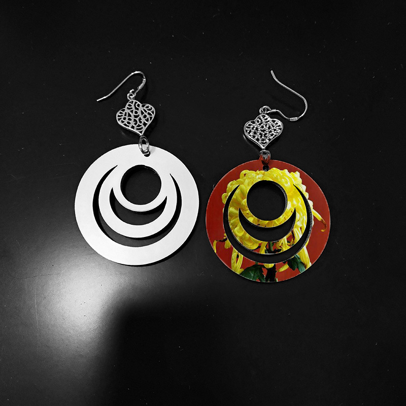 Customized Blank Earring for Sublimation Print MDF19089