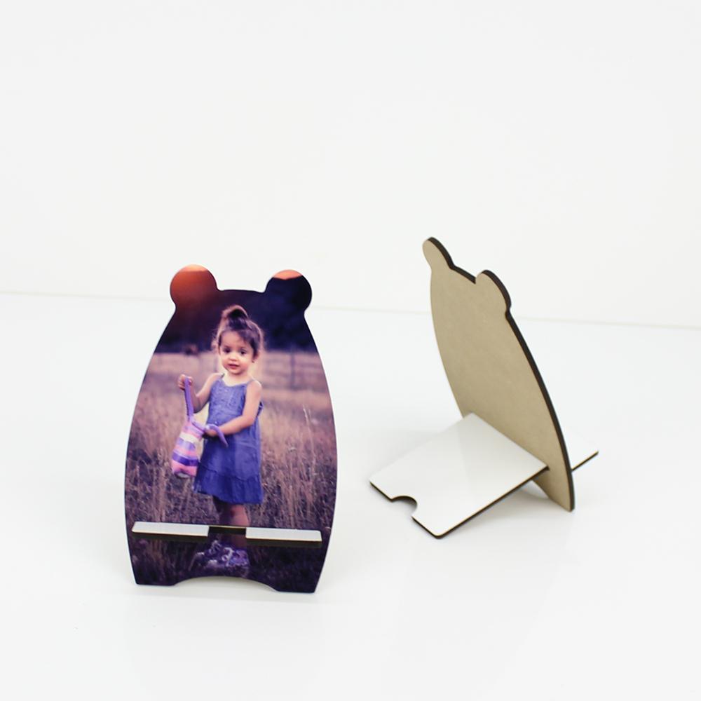 Sublimation Bear Design Table Phone Holder MDF19080
