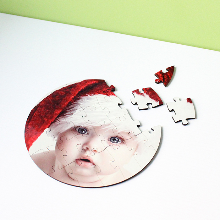 24 Pieces Round Puzzle for Sublimation Print MDF19044