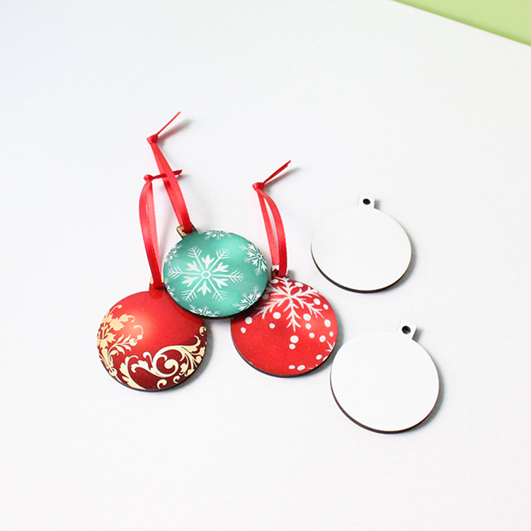 Sublimation Blank Christmas Ball Pendant MDF19058