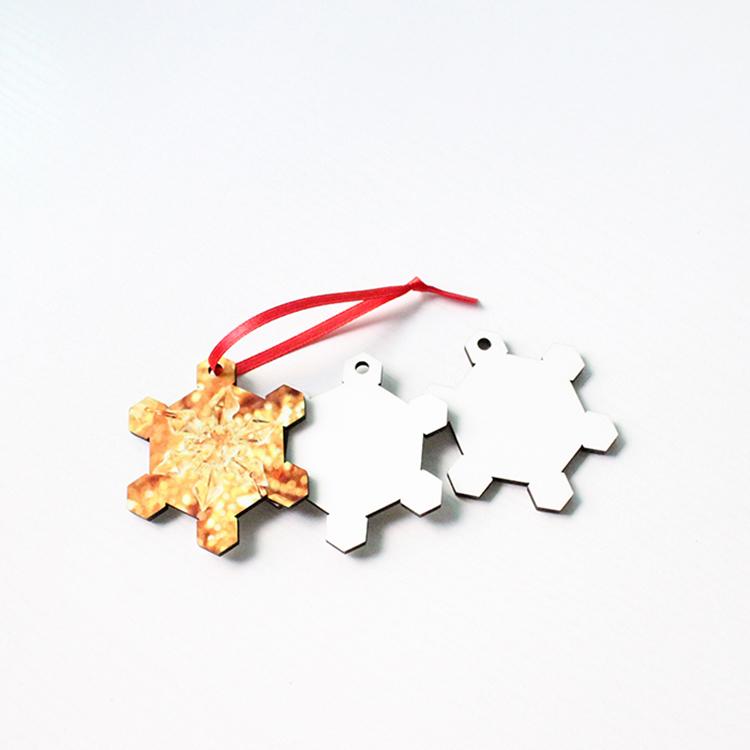 Christmas Snowflake Blank Home Decoration MDF19060