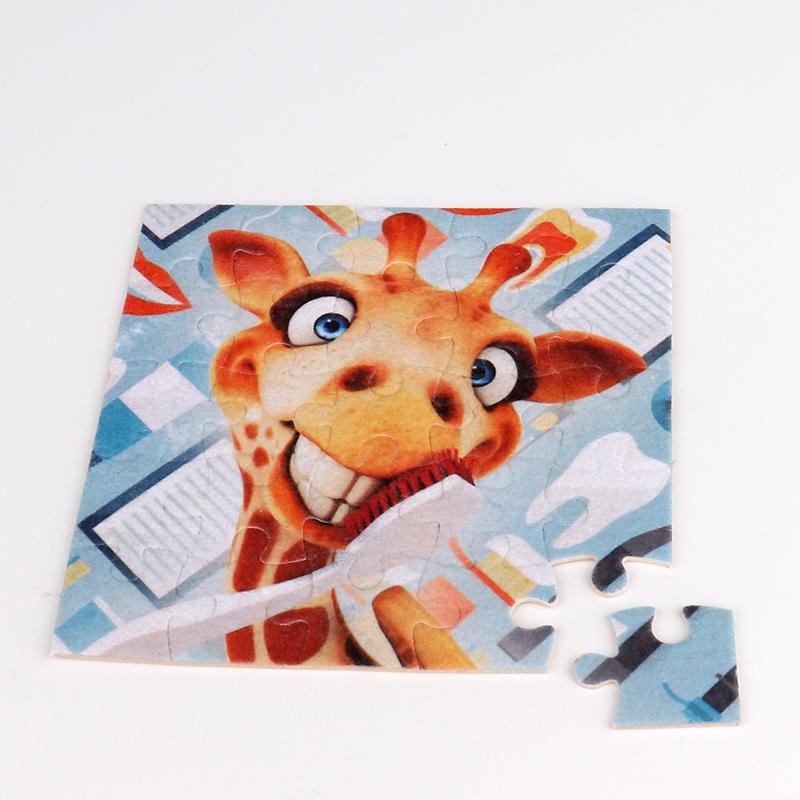 Blank Paper Puzzle For Custom Sublimation Logo 20pieces QT19061