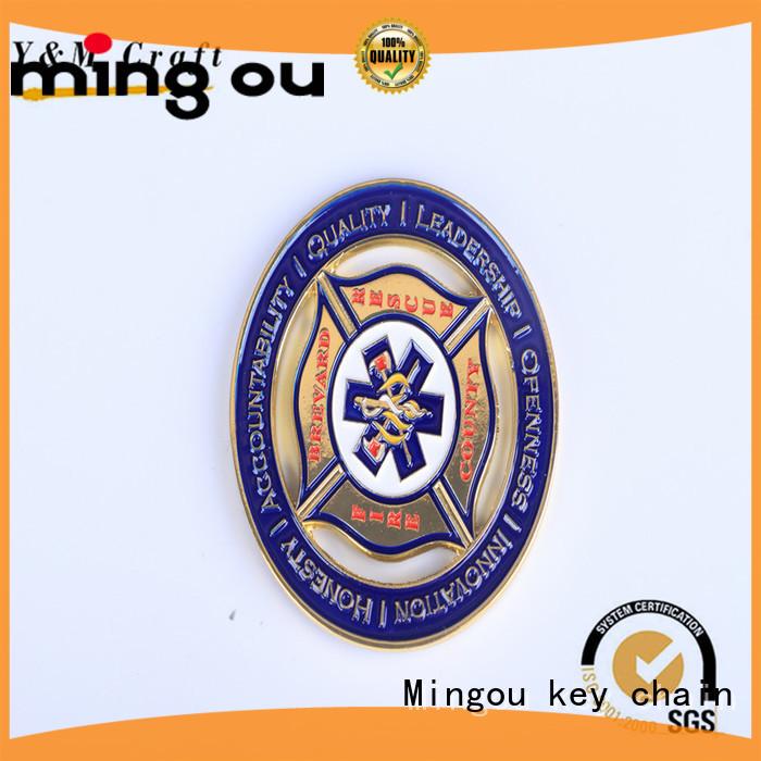 Mingou Brand plate lucky zinc custom coins